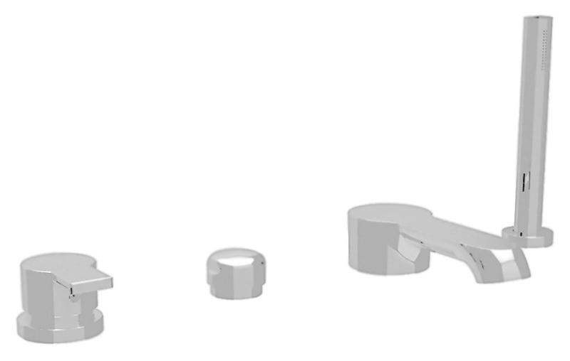 Dolce DOLCE-BVD-01 хромСмесители<br>Смеситель на борт ванны Cezares Dolce DOLCE-BVD-01 однорычажный, с выдвижным душем, изготовлен из качественной латуни. Фиксированный излив длиной 160 мм. Металлическая рукоятка. Качественный керамический картридж Sedal, Испания. Переключатель ванна/душ. Стандарт подключения G1/2. В комплекте поставки: смеситель, ручной душ, шланг и комплект крепления.<br>