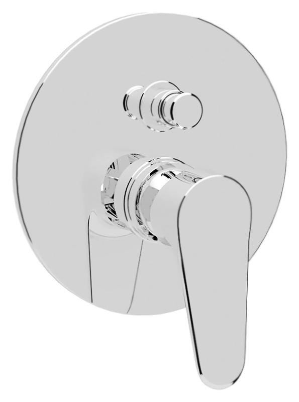 Peonia PEONIA-VDIM-01 хромСмесители<br>Встраиваемый смеситель для ванны Cezares Peonia PEONIA-VDIM-01 однорычажный, без излива, без душевого гарнитура, изготовлен из качественной латуни. Металлическая рукоятка. Качественный керамический картридж Sedal, Испания. Переключатель ванна/душ. Стандарт подключения G1/2, G3/4. Цена указана за внешнюю и внутреннюю части смесителя и комплект крепления. Все остальное приобретается дополнительно.<br>
