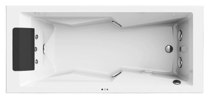 MyWay 180x80 MYW20011100 белая, с наклоном для спины справаВанны<br>Акриловая ванна Jacuzzi MyWay 180x80 MYW20012100 DX с гидромассажем и хромотерапией. Эргономичная, с подлокотниками, с установкой возле стены, в нише, в углу или встроенным способом. Пять гидромассажных форсунок TargetPro увеличивают или уменьшают мощность струи. Три вращающиеся форсунки расположены в поясничной зоне. Подводный светодиодный светильник Cromodream подсвечивает воду в последовательности цветов. Сенсорные кнопки управления. В комплекте: чаша ванны с подголовником, гидромассаж, хромотерапия, каркас и слив-перелив.<br>