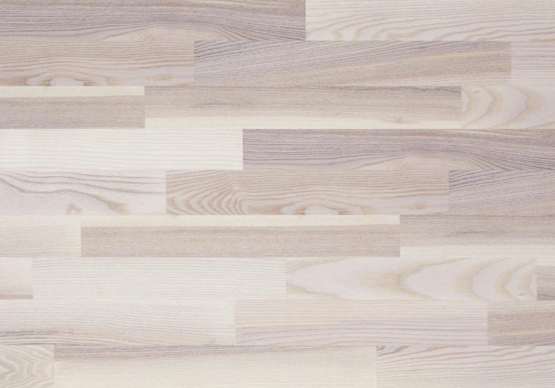 Паркетная доска Focus Floor Трехполосная Ясень Мистраль белый матовый 2266х188х14 мм