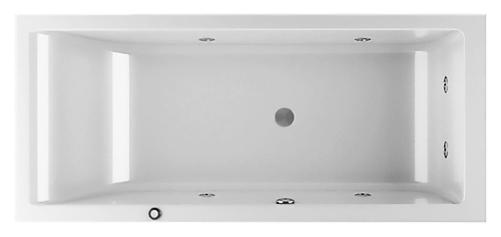 Lagoon 180x80 9443-818A белая, с наклоном для спины справаВанны<br>Акриловая ванна Jacuzzi Lagoon 180x80 9443-818A DX с гидромассажем. Гидрофункция массажа представлена четырьмя боковыми форсунками и двумя в ногах. Пневматическое управление. В комплекте: чаша ванны с белой Г-образной панелью (фронтальная и боковая панель), гидромассаж и каркас.<br>