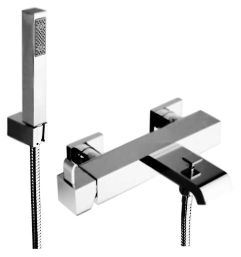 Aura 1700-0011-0 хромСмесители<br>Смеситель для ванны Jacuzzi Aura 1700-0011-0, однорычажный, с душевым гарнитуром, с переключателем душ/излив. Керамический картридж. Фиксированный настенный держатель для ручного душа. В комплекте: смеситель, шланг, душевая лейка, настенный держатель для лейки и комплект креплений.<br>