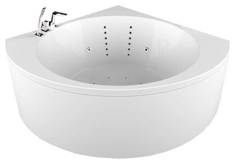 Эстрада РефлексаВанны<br>Акриловая ванна Aquatika Эстрада. В комплекте: гидромассаж (сенсорное управление, 8 форсунок), аэромассаж (12 форсунок), спинной массаж (12 форсунок), слив-перелив, МП-Релакс.<br>
