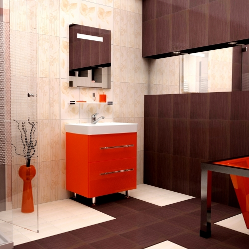 Ceramics 70 Box на ножках Категория 1Мебель для ванной<br>Мебель для ванной комнаты Harizma Ceramics 70 Box. В стоимость входит тумба с раковиной. Раковина выполнена из сантехнической керамики, фасады - влагостойкий МДФ ламинированный пленкой ПВХ, фурнитура - tandembox Blum или Jet встроенной системой мягкого закрывания.<br>