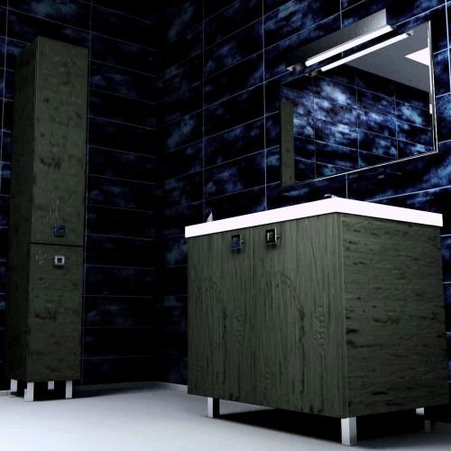 Ceramics 80 Classic на ножках Категория 2Мебель для ванной<br>Мебель для ванной комнаты Harizma Ceramics 80 Classic. В стоимость входит тумба с раковиной. Раковина выполнена из сантехнической керамики, фасады - влагостойкий МДФ ламинированный пленкой ПВХ, фурнитура - tandembox Blum или Jet встроенной системой мягкого закрывания.<br>