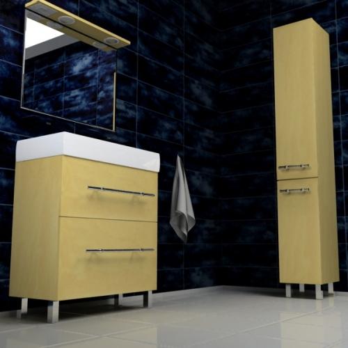 Ceramics 80 Box на ножках Категория 1Мебель для ванной<br>Мебель для ванной комнаты Harizma Ceramics 80 Box. В стоимость входит тумба с раковиной. Раковина выполнена из сантехнической керамики, фасады - влагостойкий МДФ ламинированный пленкой ПВХ, фурнитура - tandembox Blum или Jet встроенной системой мягкого закрывания.<br>