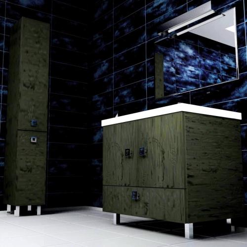 Ceramics 80 Multi на ножках Категория 2Мебель для ванной<br>Мебель для ванной комнаты Harizma Ceramics 80 Multi. В стоимость входит тумба с раковиной. Раковина выполнена из сантехнической керамики, фасады - влагостойкий МДФ ламинированный пленкой ПВХ, фурнитура - tandembox Blum или Jet встроенной системой мягкого закрывания.<br>