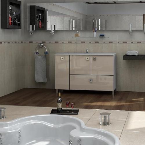 Ceramics 100 Multi 1 на ножках Категория 2Мебель для ванной<br>Мебель для ванной комнаты Harizma Ceramics 100 Multi 1. В стоимость входит тумба с раковиной. Раковина выполнена из сантехнической керамики, фасады - влагостойкий МДФ ламинированный пленкой ПВХ, фурнитура - tandembox Blum или Jet встроенной системой мягкого закрывания.<br>