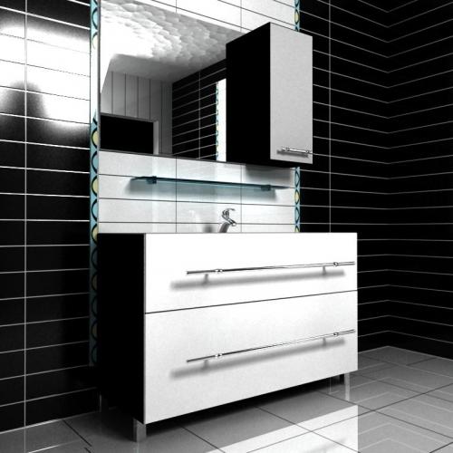 Ceramics 120 Box на ножках Категория 1Мебель для ванной<br>Мебель для ванной комнаты Harizma Ceramics 120 Box. В стоимость входит тумба с раковиной. Раковина выполнена из сантехнической керамики, фасады - влагостойкий МДФ ламинированный пленкой ПВХ, фурнитура - tandembox Blum или Jet встроенной системой мягкого закрывания.<br>