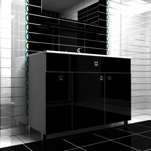 Ceramics 120 Multi 3 на ножках Категория 2Мебель для ванной<br>Мебель для ванной комнаты Harizma Ceramics 120 Multi 3. В стоимость входит тумба с раковиной. Раковина выполнена из сантехнической керамики, фасады - влагостойкий МДФ ламинированный пленкой ПВХ, фурнитура - tandembox Blum или Jet встроенной системой мягкого закрывания.<br>