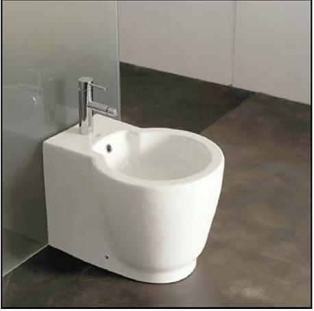 DT 9002 БелоеБиде<br>Основные характеристики биде Oxo DT 9002: напольное, высота: 395 мм, ширина: 400 мм, длина: 545 мм.<br>