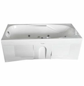 Парма Стандарт WhiteВанны<br>Ванна Радомир Парма. В комплект входит ванна, рама-подставка, слив-перелив полуавтомат, фронтальная панель, 6 стандартных форсунок белых по периметру, 3 форсунки спинного массажа белые.<br>