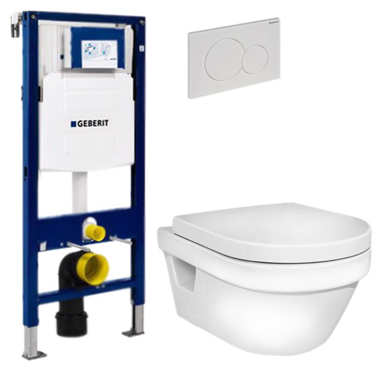 Унитаз Gustavsberg Hygienic Flush WWC 5G84HR01 в комплекте с инсталляцией Geberit 111.300.00.5 и кнопкой Geberit 115.770.11.5 с кнопкой