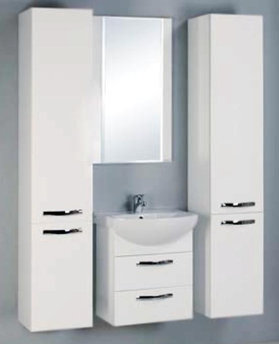 Ария 50 М белая глянцеваяМебель для ванной<br>Тумба под раковину Акватон Ария 50 М 1A140001AA010 с двумя выдвижными ящиками. Корпус выполнен из ДСП с ламинированным покрытием, обладает повышенной влагостойкостью и сопротивляемостью износу, не выделяет вредных испарений, хорошо выдерживает воздействие бытовых химических средств, за исключением абразивных материалов и едких веществ и жидкостей. Фасадные детали изготавливаются из МДФ с пятислойной покраской.<br>