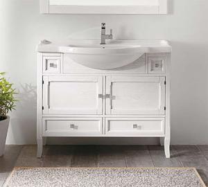 Arianna 105 bianco decapeМебель для ванной<br>Тумба под раковину Eban Arianna 105, цвет белый. Ощущение мягкости, которое излучает мебель Eban, и неповторимый узор прожилок обеспечиваются благодаря обработке дерева, сохраняющей открытые поры.Такая отделка подчеркивает самые естественные характеристики дерева и его натуральность. Цена указана за тумбу. Все остальное приобретается дополнительно.<br>