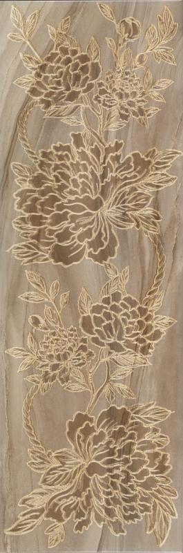 Керамический декор ArtiCer Agate Inserti Taupe Peonia 25х75 см цена 2017