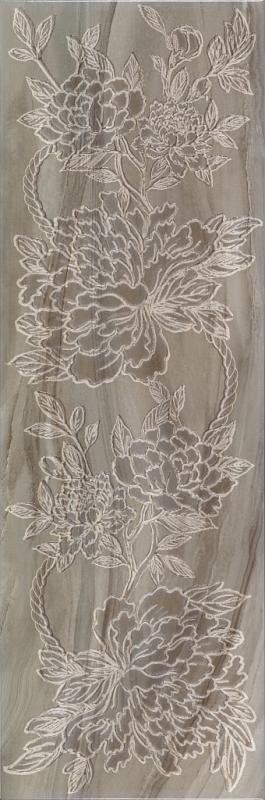 Керамический декор ArtiCer Agate Inserti Grey Peonia 25х75 см
