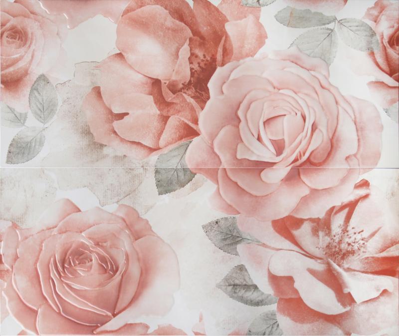 Керамическое панно ArtiCer Floreale Onyx Rosone Beige 2 Pz 1046644 61х72,5 см стоимость