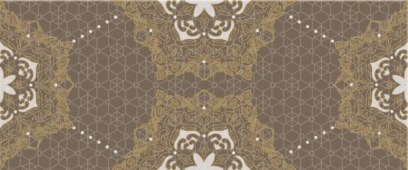 Керамический декор ArtiCer Gold Pizzo Taupe 25х60 см цена 2017