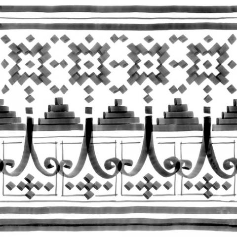 Керамический декор Vives Ceramica Vodevil Bellaria-2 Sombra 20х20см стоимость