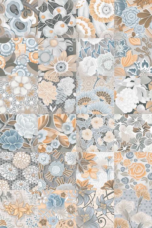 Керамическая плитка Vives Ceramica Vodevil Flore Gris напольная 20х20 см стоимость