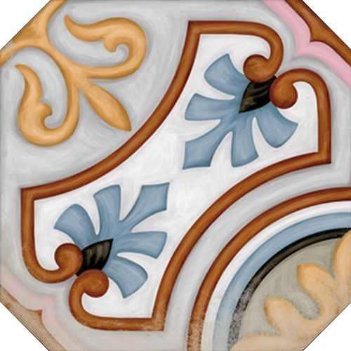 Керамический декор Vives Ceramica Vodevil Octogono Diglas Multicolor 20х20см цены