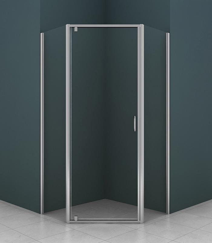Душевой уголок Azario AZ-112P 90x90 профиль хром, стекло прозрачное цены онлайн