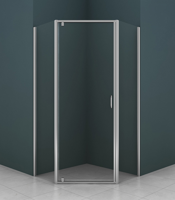 Душевой уголок Azario AZ-112P 100x100 профиль хром, стекло прозрачное все цены