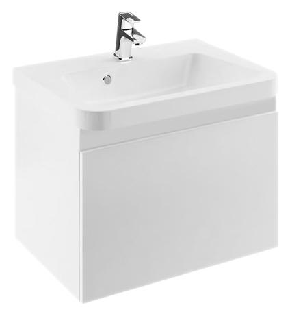 SD 10° 65 белая глянцеваяМебель для ванной<br>Подвесная тумба под раковину Ravak SD 10° 65 X000000736 с одним выдвижным ящиком, выполнена из импрегнированной плиты ДСП и МДФ со специальной влагостойкой пропиткой. Оригинальный дизайн тумбы обеспечивает легкость в уходе простотой своих форм.<br>