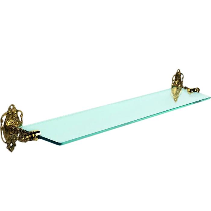 Impero AM-1729-Cr БронзаАксессуары для ванной<br>Полка стеклянная Art&amp;Max Impero AM-1729-Cr подвесная. Цвет изделия - бронза.<br>