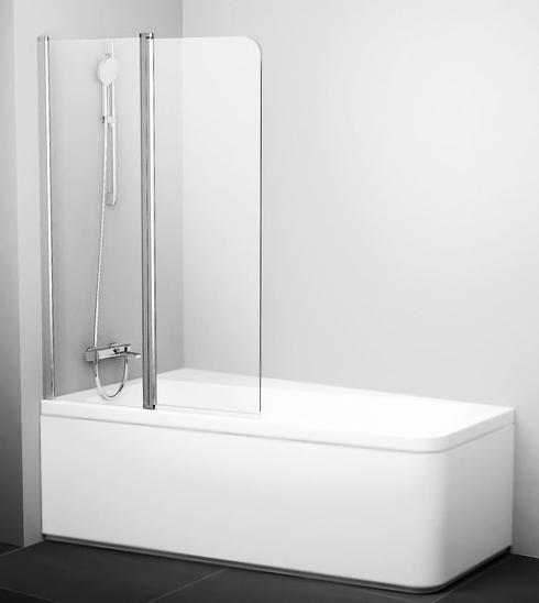 10° 10CVS2 100x150 профиль полированный алюминий, стекло прозрачное, праваяДушевые ограждения<br>Шторка на ванну Ravak 10° 10CVS2 100x150 7QRA0C03Z1 из безопасного стекла толщиной 6 мм, с одной неподвижной и одной подвижной секциями, складывающаяся внутрь или наружу, что облегчает уход за стеклом и предоставляет широкий вход. Защитный слой AntiCalc® - покрытие стекла от грязи и известковых отложений. Подъемный механизм позволяет фиксировать створку в основных положениях, обеспечивает ее автоматическую доводку при закрывании и приподнимание над пороговой планкой при открывании.<br>