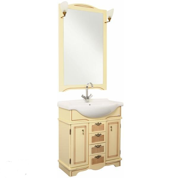 Луис Shenxin 70 БежевыйМебель для ванной<br>Тумба для ванной комнаты Акванет Луис под раковину Shenxin. В комплект поставки входит тумба.<br>
