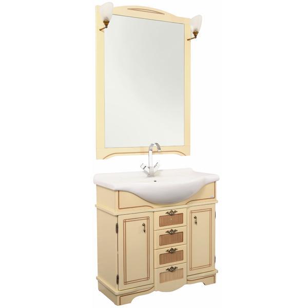 Луис Shenxin 80 Белый глянец/патина сереброМебель для ванной<br>Тумба под раковину Aquanet Луис Shenxin 80 186179 напольная.<br>Дизайн: в классическом стиле, с оригинальным декором, который подчеркивает геометрическую стройность и правильность композиции.<br>Технические характеристики:  <br> Габариты тумбы: 81 x 51 x 87,6 см,<br> форма: прямоугольная,<br>материал корпуса: ДСП,<br>покрытие корпуса: эмаль, матовое,<br>материал фасада: МДФ, <br>покрытие фасада: эмаль, <br>цвет: белый глянец/патина серебро,<br>фурнитура: хром, <br>монтаж: напольный,<br>тумба с 4 выдвижными ящиками, 2 распашные дверцы<br>В комплекте поставки: тумба для ванной. <br>