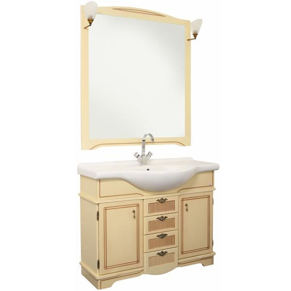 Луис Shenxin 110 БелыйМебель для ванной<br>Тумба для ванной комнаты Акванет Луис под раковину Shenxin. Цена указана за тумбу. Все комплектующее приобретаются отдельно.<br>