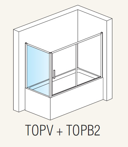 Topv Standart 700Душевые ограждения<br>Высота 1500 мм, ширина 700 мм.<br>