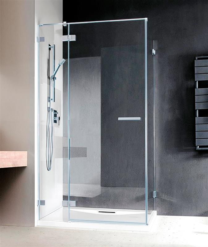 Дверь для душевого уголка Radaway Euphoria KDJ 80x200 профиль хром, стекло прозрачное, петли справа 383043-01R