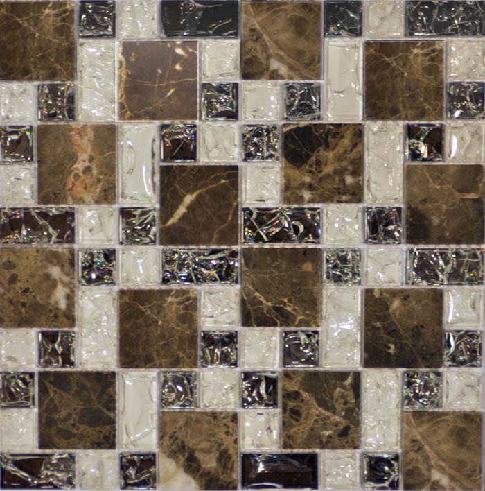 Мозаика Muare Стекло/Камень QSG-079-FP/8 мозаика 29.8х29.8 см мозаика q stones qsg 081 fp 8 30х30