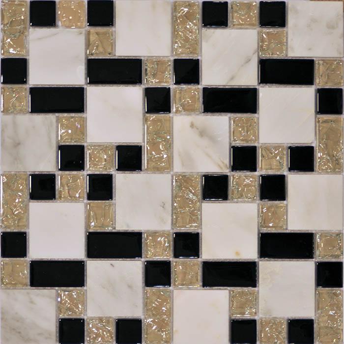 Мозаика Muare Стекло/Камень QSG-080-FP/8 мозаика 29.8х29.8 см мозаика q stones qsg 081 fp 8 30х30