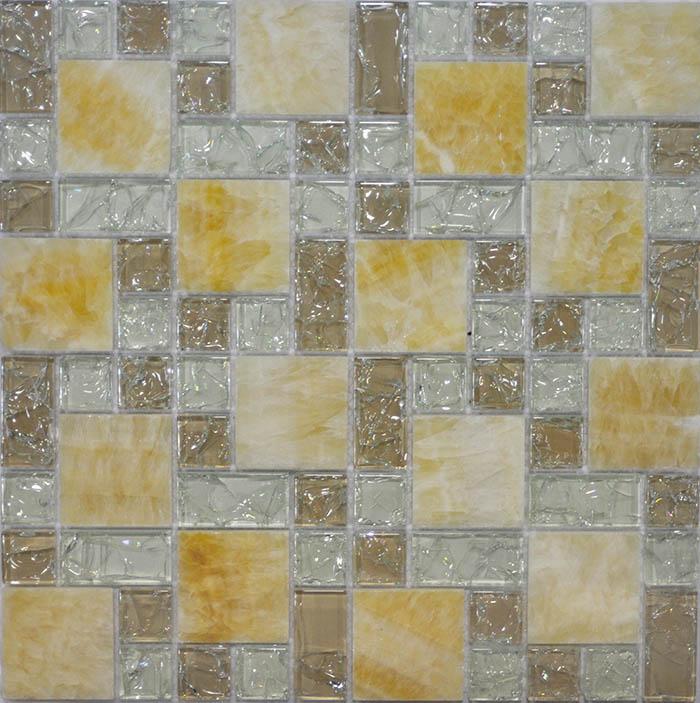 Мозаика Muare Стекло/Камень QSG-081-FP/8 мозаика 29.8х29.8 см мозаика q stones qsg 081 fp 8 30х30