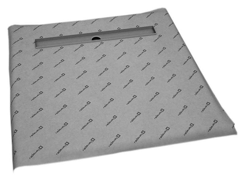 Душевая плита Radaway RadаDrain 99x99x5 с линейным трапом c декоративной решеткой rain 5CL1010A/5R075R