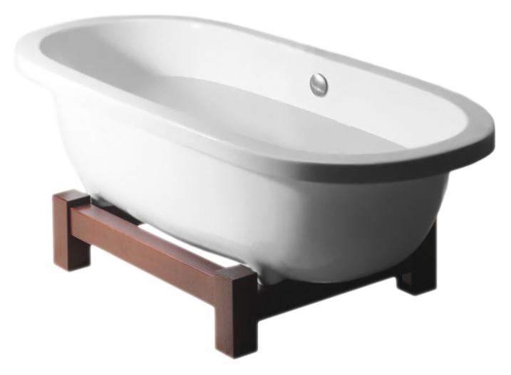 Акриловая ванна Alpen Matrix W 175x80x60 европейский белый/выбеленный дуб 39134