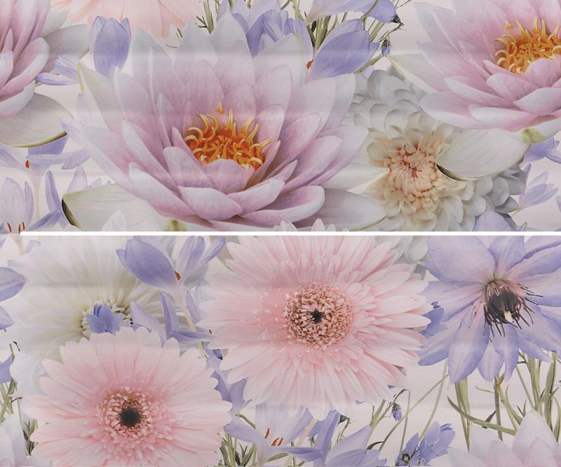 Керамическое панно Gracia Ceramica Aquarelle lilac panno 01 50х60 см