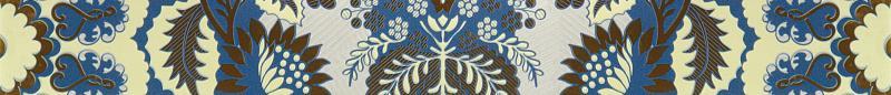 Купить Керамический бордюр, Erantis blue border 01 6, 5х60 см, Gracia Ceramica, Россия