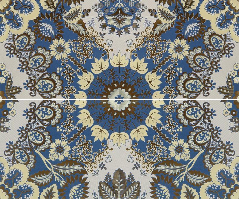 Купить Керамическое панно, Erantis blue panno 01 50х60 см, Gracia Ceramica, Россия