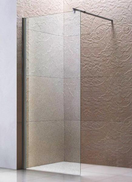 купить Душевая перегородка AM PM Bliss L 80x190 профиль хром, стекло прозрачное недорого