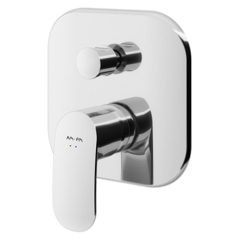 Sensation F3085000 хромСмесители<br>Смеситель для ванны АМ РМ Sensation F3085000 однорычажный, встраиваемый на одно отверстие, без душевого гарнитура, без излива.<br><br>Материал: латунь.<br>Покрытие: хром.<br>Переключатель душ/излив.<br>Стандарт подключения G1/2.<br>Цена указана за внешнюю часть смесителя. Внутренняя часть и все остальное приобретается дополнительно.<br>