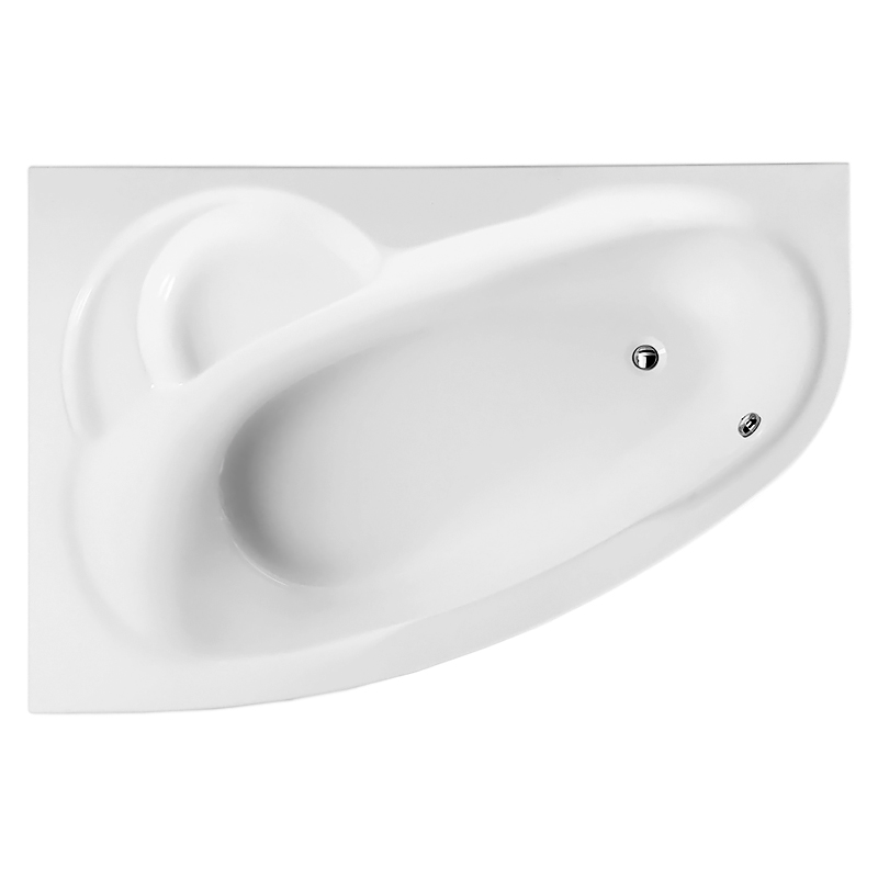 Bliss L 160x105x56 белая, в левый уголВанны<br>Акриловая ванна AM PM Bliss L W53A-160L105W-A 150x150x64 асимметричная, для установки в левый угол, с отлитым сиденьем, объемом 180 литров. Комфортная и вместительная, в сочетании с оптимальным методом монтажа, экономящим полезную площадь. <br><br>Прочность в сочетании с малым весом<br>Эффективное звукопоглощение<br>Идеально гладкая поверхность<br>Акрил быстро нагревается и долго сохраняет тепло<br>С первого прикосновения чувствуется тепло из-за низкой теплопроводности<br>Диаметр сливного отверстия 50 мм<br><br>