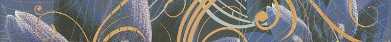 Купить Керамический бордюр, Gracia violet border 01 6, 5х60 см, Gracia Ceramica, Россия