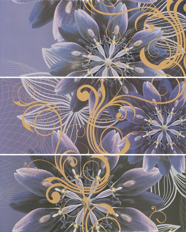 Купить Керамическое панно, Gracia violet panno 01 75х60 см, Gracia Ceramica, Россия