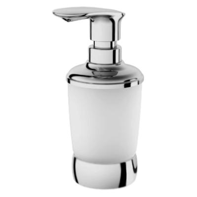 Sensation A3031900 хром/матовое стеклоАксессуары для ванной<br>Настольный дозатор жидкого мыла АМ РМ Sensation A3031900.<br><br>Материал: латунь/матовое стекло.<br>Покрытие: хром.<br>Высота: 185 мм.<br><br>
